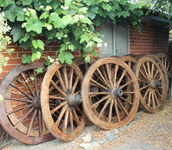 Teak Wagon Wheels